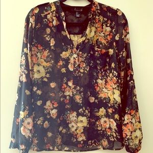 Floral Button Up